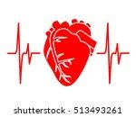 heart cardiology cardiogram... | Shutterstock .eps vector #513493261