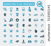 marketing plan  research icons   Shutterstock .eps vector #513502141