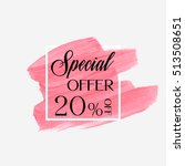 sale special offer 20  off sign ... | Shutterstock .eps vector #513508651