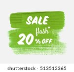 sale season flash 20  off sign... | Shutterstock .eps vector #513512365