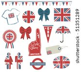 collection of great britain... | Shutterstock .eps vector #51351289