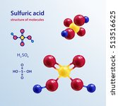 structure of molecules.... | Shutterstock .eps vector #513516625