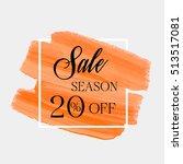 sale season 20  off sign over... | Shutterstock .eps vector #513517081