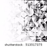 gray white polygonal background ... | Shutterstock .eps vector #513517375