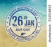australia day stamp in vector.... | Shutterstock .eps vector #513518815