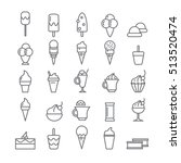 icons with ice cream | Shutterstock .eps vector #513520474