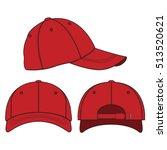 baseball cap vector template | Shutterstock .eps vector #513520621