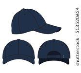 baseball cap vector template | Shutterstock .eps vector #513520624