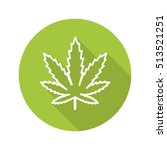 marijuana leaf flat linear long ... | Shutterstock .eps vector #513521251