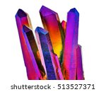 amazing colorful quartz rainbow ... | Shutterstock . vector #513527371