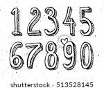 numbers sketch style  vector... | Shutterstock .eps vector #513528145