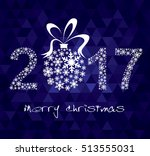 happy new year 2017 greeting... | Shutterstock .eps vector #513555031