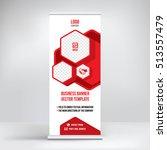 banner roll up design  business ... | Shutterstock .eps vector #513557479