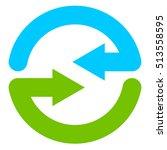 blue and green circular arrow... | Shutterstock .eps vector #513558595