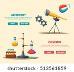 set of science logo. cartoon... | Shutterstock .eps vector #513561859