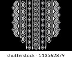 geometric ethnic pattern neck... | Shutterstock .eps vector #513562879