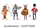 warrior knight with sword and... | Shutterstock .eps vector #513573205