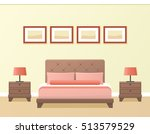 hotel room or bedroom interior... | Shutterstock .eps vector #513579529