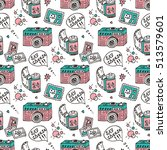 vector seamless pattern with... | Shutterstock .eps vector #513579601