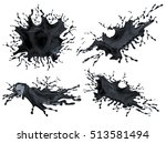 set  pack  collection of black ... | Shutterstock . vector #513581494