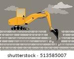 an excavator digging through a... | Shutterstock .eps vector #513585007