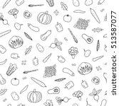 black and white seamless... | Shutterstock .eps vector #513587077