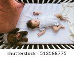 adorable newborn lies in the...   Shutterstock . vector #513588775