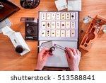 precious gem stones appraisal ... | Shutterstock . vector #513588841