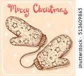 vector illustration of knitted...   Shutterstock .eps vector #513609865