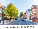 chiswick suburb street in... | Shutterstock . vector #513619627