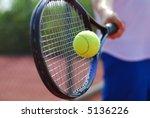 tennis racket and ball | Shutterstock . vector #5136226