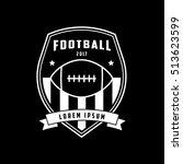 american football emblem line... | Shutterstock .eps vector #513623599