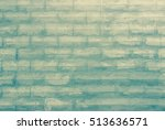 black and white brick wall... | Shutterstock . vector #513636571