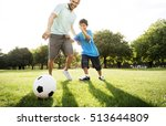 soccer football field father... | Shutterstock . vector #513644809