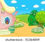 house in garden | Shutterstock . vector #51364849