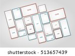 picture frame vector. photo art ... | Shutterstock .eps vector #513657439