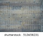 empty parking lots  aerial view. | Shutterstock . vector #513658231