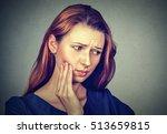 closeup portrait young woman... | Shutterstock . vector #513659815