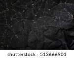 black paper texture  crumpled... | Shutterstock . vector #513666901