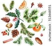 Watercolor Christmas Set Of...