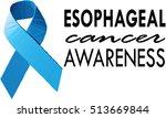 cancer awareness blue ribbon | Shutterstock .eps vector #513669844