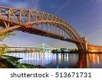 hell gate bridge and triboro... | Shutterstock . vector #513671731
