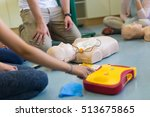 first aid cardiopulmonary... | Shutterstock . vector #513675865