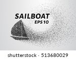 a sailing ship made of... | Shutterstock .eps vector #513680029