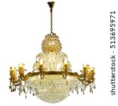 Crystal Chandelier Isolated On...