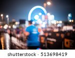 abstract blurred city people... | Shutterstock . vector #513698419