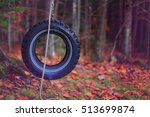 Hanging Tire At The Tree For...