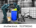 chemical spill pollution at... | Shutterstock . vector #513700261
