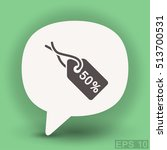 pictograph of tag | Shutterstock .eps vector #513700531