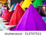 bowls of vibrant colored dyes... | Shutterstock . vector #513707521